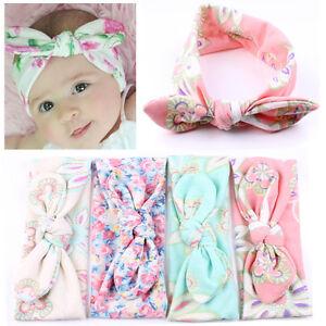 Mignon-Enfants-Oreilles-Turban-Rabbit-Bandeau-Fleur-Hairband-bowknot-Headwraps