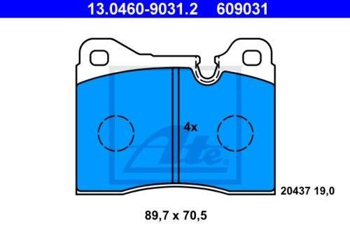 Garnitures de freins complet set avant bmw 3850632 2x Unités antithrombine Disques De Frein