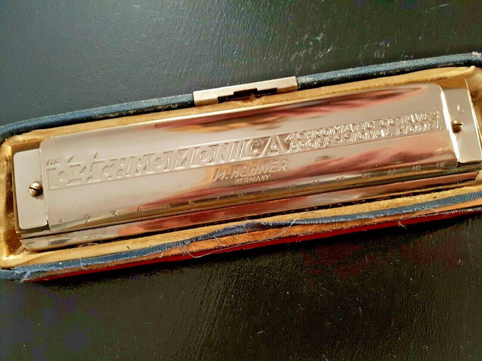 Harmonica 16 trous HOHNER 64 chromonica 4 chromatic octaves, vintage rétro
