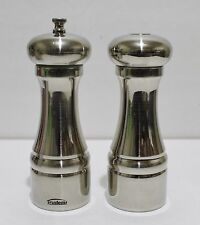 Trudeau Maison Pepper Mill And Salt Shaker Set 6 5 Stainless Steel