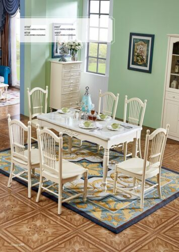 6x Chair Green currently Colonial Baroque Armchair Chairs Lehn Chair Upholstered Dining