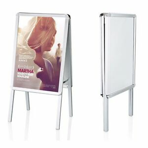 Image Is Loading A2 Board Pavement Sign Snap Frame Aluminium Poster