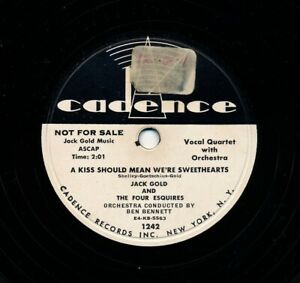 JACK-GOLD-and-the-FOUR-ESQUIRES-on-1954-Cadence-1242-Promo-Ev-039-rything