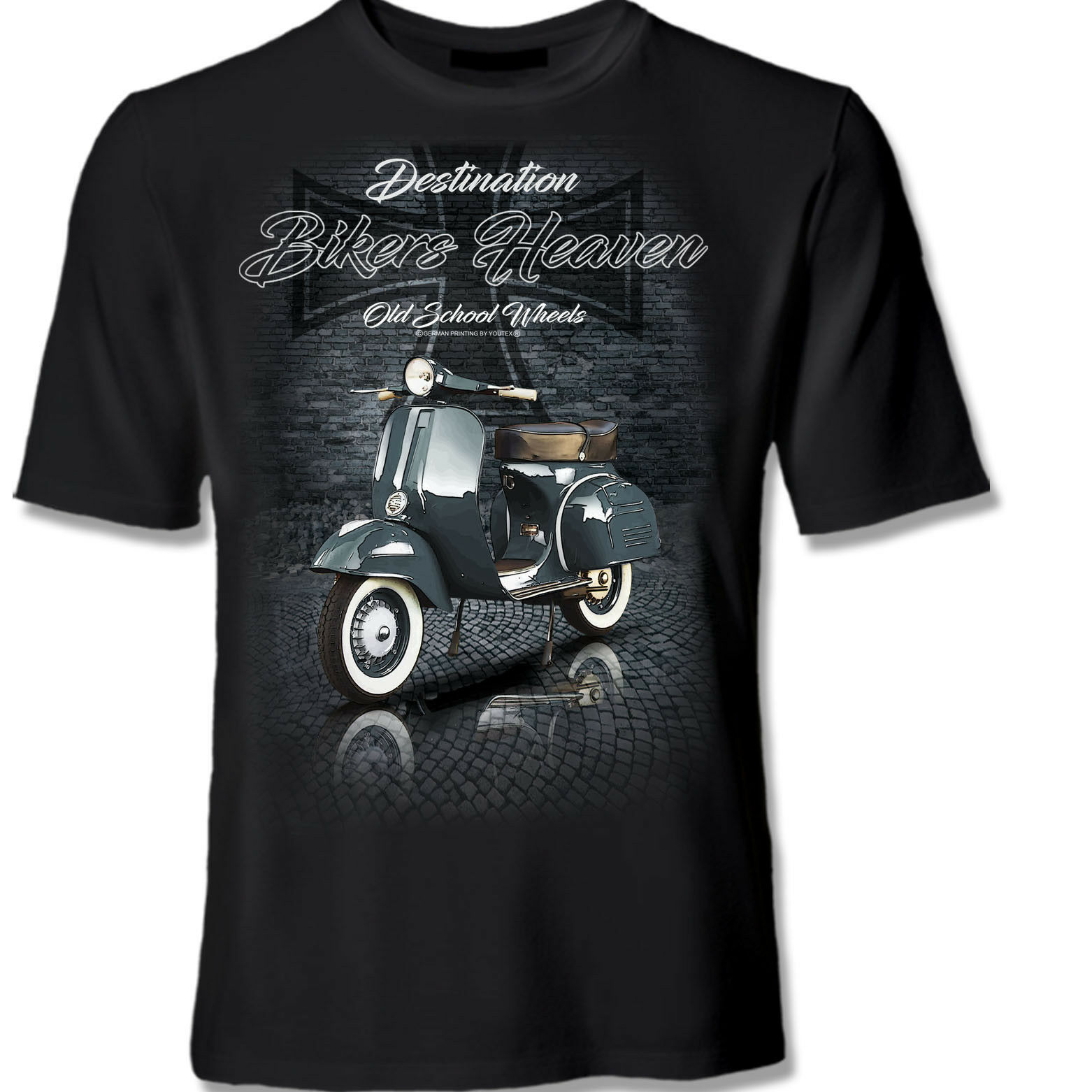 VESPA CLASSIC BIKERS HEAVEN BIKE MOTORRAD T Shirt  original YOUTEX