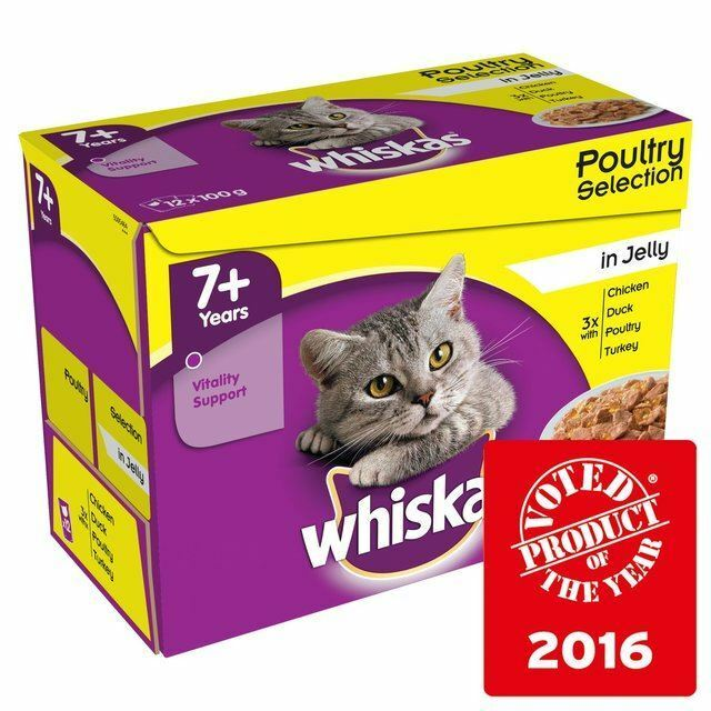 Whiskas 7+ Cat Pouches Poultry in Jelly 12 x x x 100g (PACK OF 6) 105c62