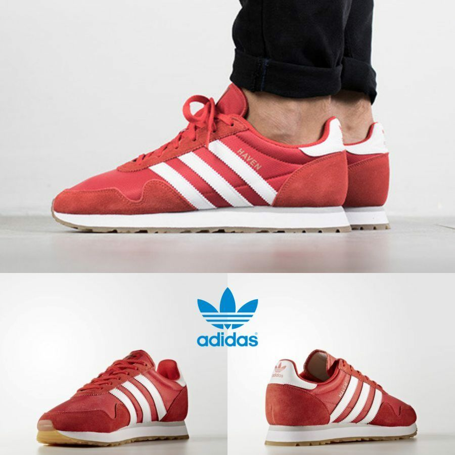 Adidas Haven Unisex Original Taille rouge blanc Brown BY9714 Taille Original 4-11 Limited 0a7b86