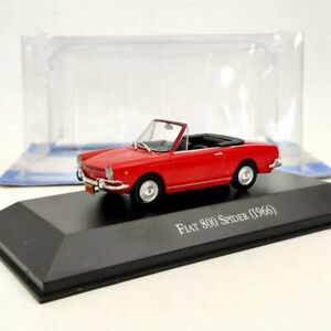 IXO-Fiat-800-Spider-1966-Red-1-43-Diecast-Models-Limited-Edition-Collection