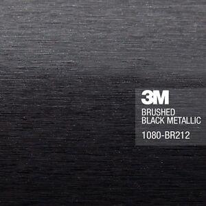 3m 1080 Brushed Black Metallic Vinyl Car Wrap Film Ebay