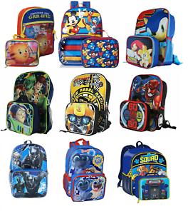 577f42d245da Little Boys School Large Backpack Lunch box Set Cartoon Book Bag ...