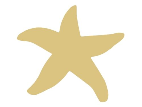 Starfish Style 1 Unfinished MDF Wood Cutout Variety Sizes USA Made Nautical
