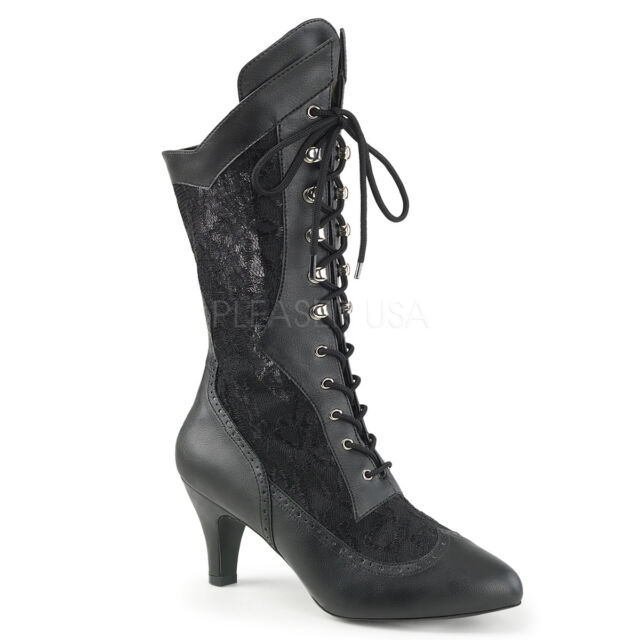 Wide Width Calf Vintage Lace up BOOTS