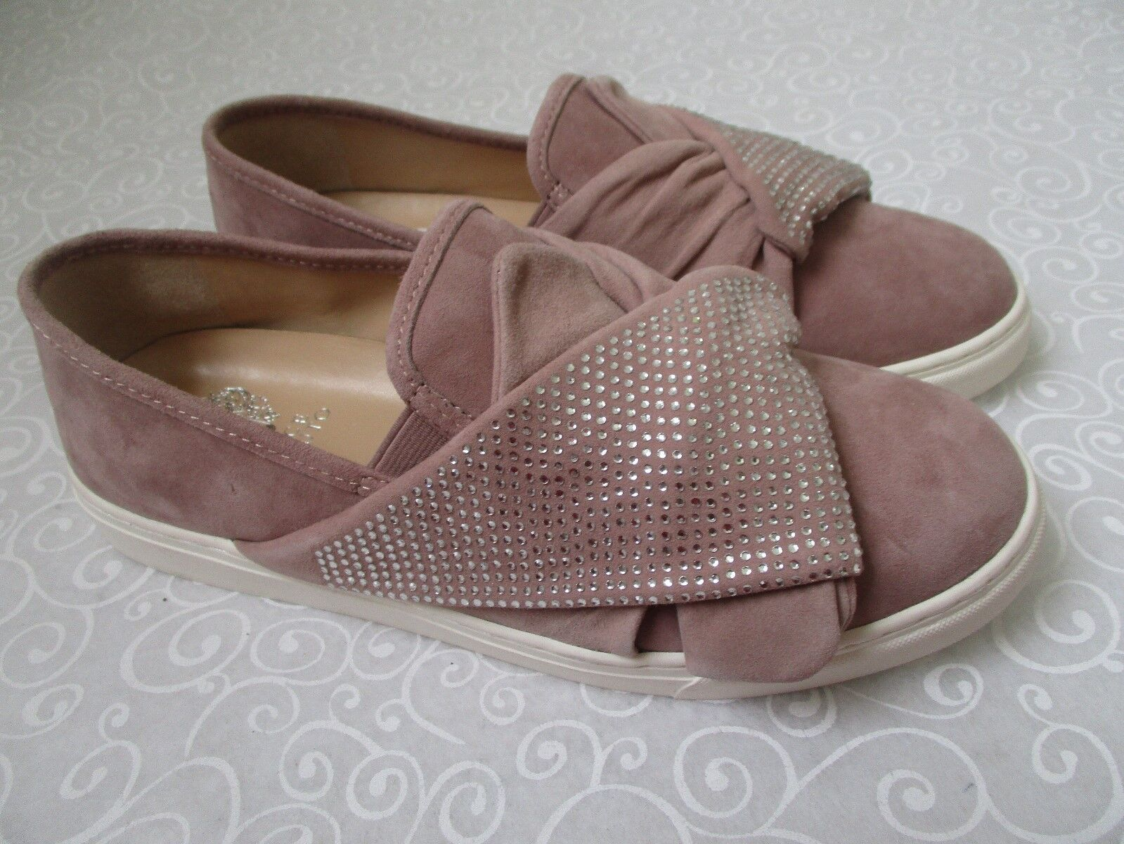VINCE CAMUTO BARITA ROSE QUARTZ SUEDE LEATHER chaussures Taille 11 M - NEW