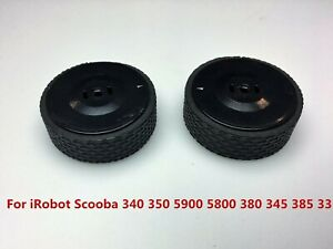 2PCS-Black-Wheels-for-iRobot-Scooba-340-350-5900-5800-380-345-385-Vacuum-Cleaner