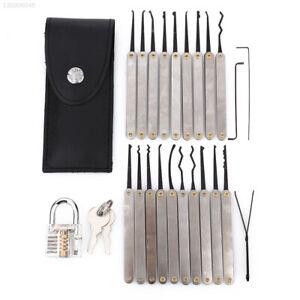 + Transparent Lock Padlock Lock Pick Set Key Extractor Tool Repair Professional