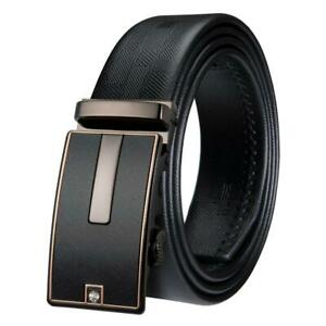 USA-Black-Leather-Mens-Belts-Formal-Automatic-Buckles-Dress-Belts-Waistband
