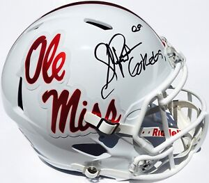 SHEA PATTERSON  20 SIGNED OLE MISS REBELS CHROME FOOTBALL HELMET w ... b9db8f6b2