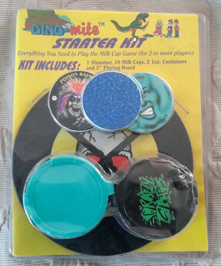 Dino mit milch kappen pogs starter kit spiel slammer 2 container 5