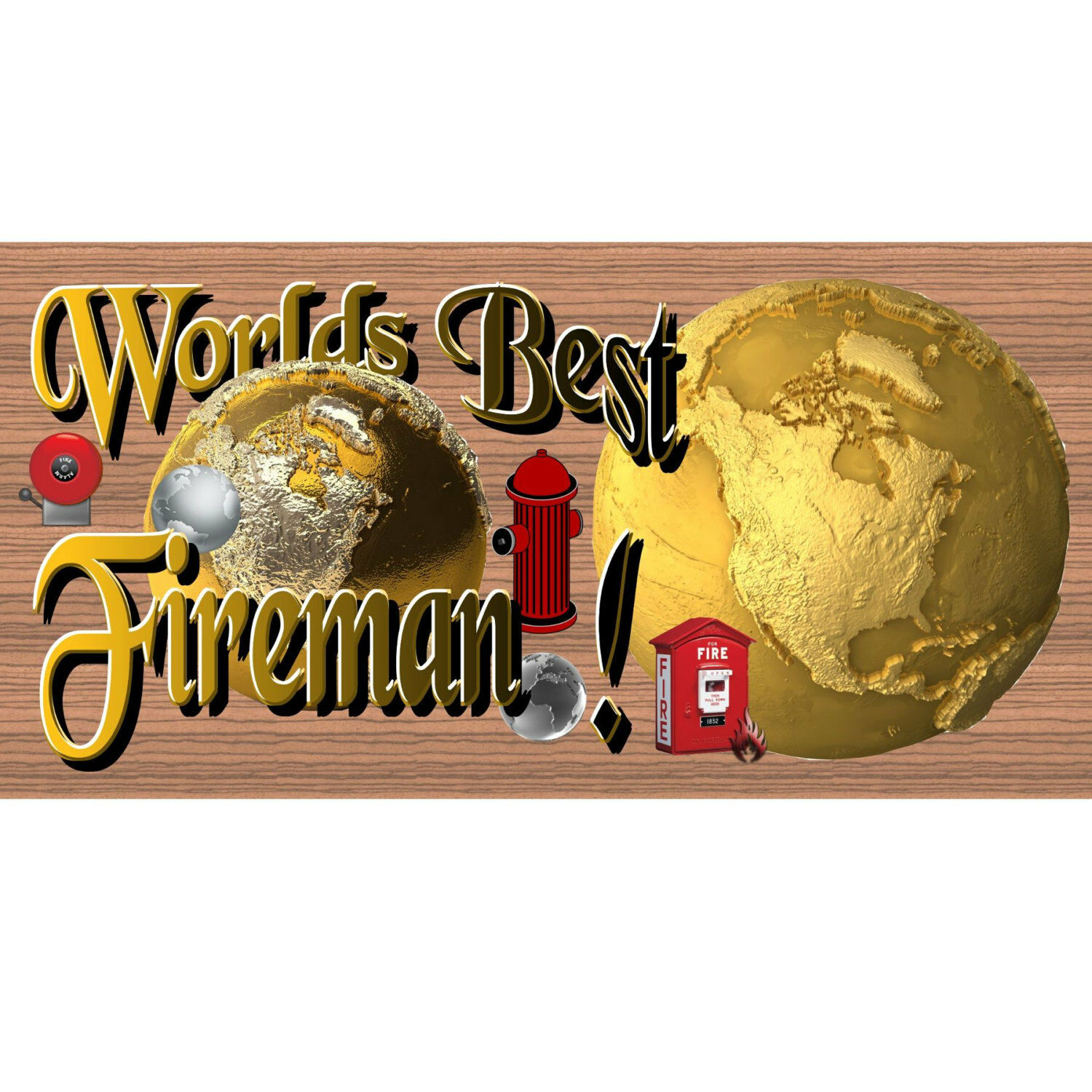 Wood Signs Signs Signs -Worlds Best Fireman -GS 1289 -Wood Plaque f80e75