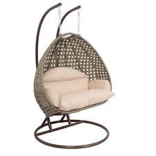 2 Person Black Egg Shape Wicker Rattan Swing Chair Hanging Hammock 418lb For Sale Online Ebay