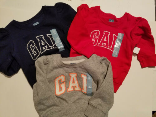 Gap Toddler Girls Pull Over GAP Top  Sizes 12//18M 4T NWT Red Gray Blue