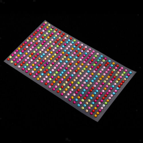 5Pcs Bling Crystal Stickers Rhinestone Self Adhesive Embellishment Stickers