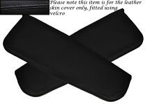 BLACK STITCHING FITS DAIHATSU COPEN 2003+ 2X SUN VISORS LEATHER COVERS ONLY