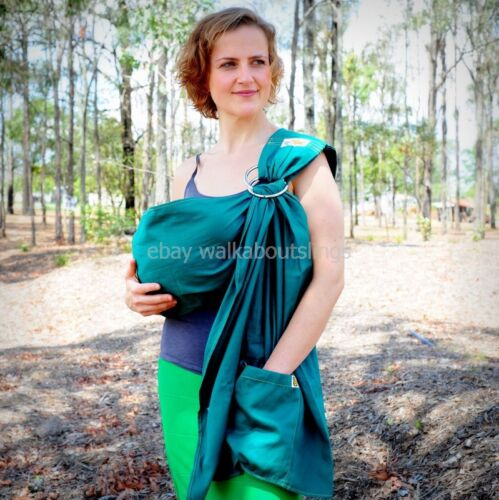 Walkabout Baby Ring Sling Carrier Pouch Newborn to Toddler 100/% Cotton Green EM