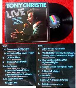 LP Tony Christie Live (1975)
