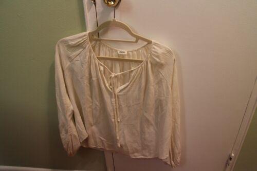 L'agence Cream Silk Poet Blouse size 2