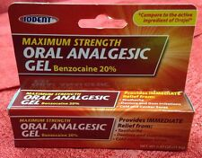 IODENT .42 oz Oral Analgesic Cream Maximum Strength for Pain 20% Benzocaine New