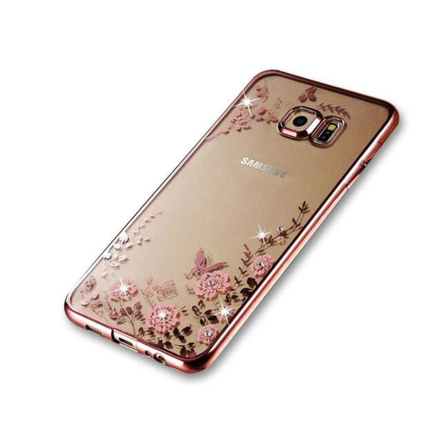 Rose Gold Shockproof Gel Bling Case Bumper Cover for Samsung Galaxy S8 A5 (2017)