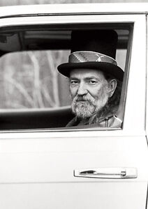 Willie Nelson Country Legend BW Poster