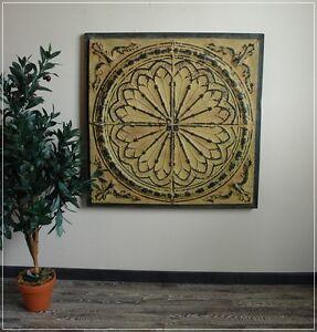 Wanddeko Mediterran wandobjekt wanddekoration design tunis metall patiniert 86x86cm