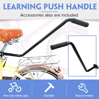 Learning Push Handle Bike Parent Grab Kids Safety Pole Bar Bicycle Control Grip