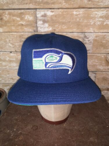 VINTAGE 80s Very Rare Seattle Seahawks NFL Blue NE