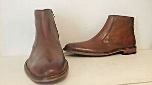 Giorgio-Brutini-Mens-Rylan-25101-Leather-Ankle-Dress-Zip-Up-Boot-Brown-Size-10-M