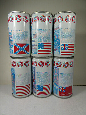 Complete 6 can set of IRON CITY BICENTENNIAL cans Pittsburgh Brewing Co