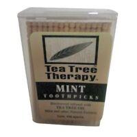 Tea Tree Therapy Tea Tree Toothpick - 100 Per Pack -- 12 Packs Per Case., New, F on sale