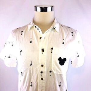 Junk-Food-Disney-Cotton-Gauze-Airy-Short-Sleeve-Button-Front-Shirt-Mens-Small