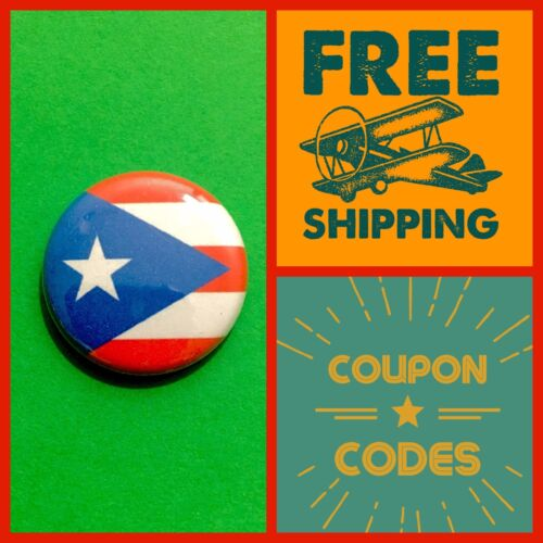 united states  USA buttons pins US America Flags PR Puerto Rico Flag Button Pin