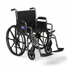 "Medline K2 Basic Wheelchair with 20""x16"" Seat, Swing Away Footrests- MDS806400EV"