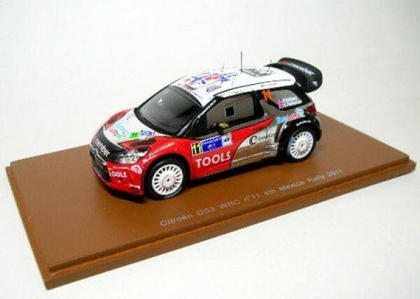 Citroen Ds 3 WRC N° 11 P. Solberg Rally México 2011