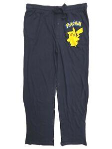 Pokemon Pikachu CharIzard Group Mens Medium Navy Blue Lounge Sleep Pants