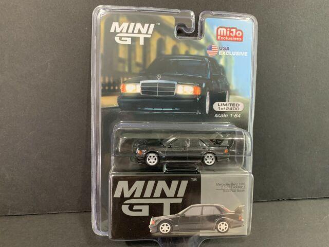 1//64 MINI GT Mercedes Benz 190E 2.5-16 Evolution II Black Diecast car Model