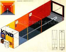 BAUHAUS CINEMA THEATER, 1925 Vintage Design Poster Giclee Canvas Print 28x22