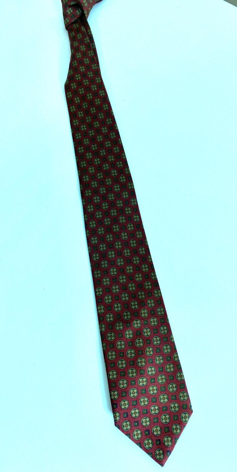 Master Silk Tie/Necktie 100% Silk Bordeaux Tie Pattern Flowers