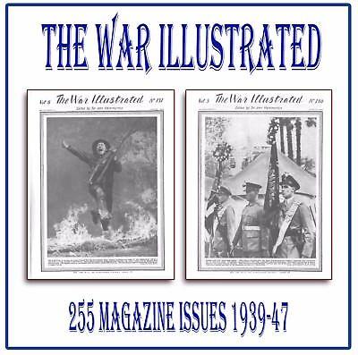 The War Illustrated ☆☆ World War 2 WW2 ☆☆ COMPLETE SET ☆ 255 Magazines on USB L7