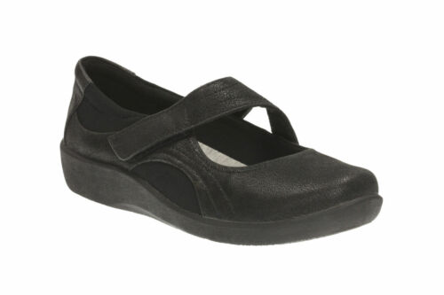 Sillian Bella Chaussures Mary nubuck Jane Clarks Black coussinées en synthétique B8O7xnPqw