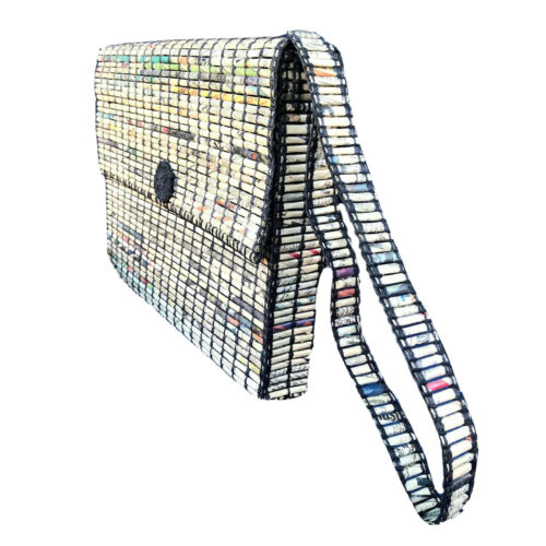 Futurarte Shoulder Bag Artisan Rolled Newspaper Po