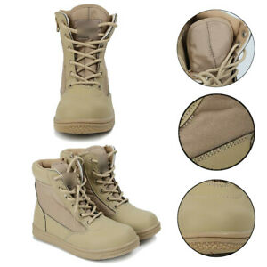 Kids Child Boys Girls Military Outdoor Shoes Army SWAT Tactical Combat Boots NEW